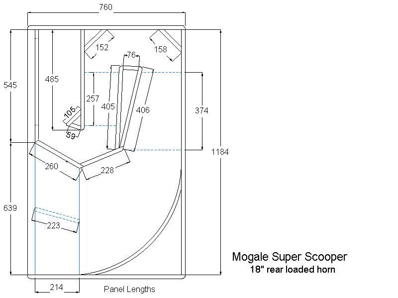 Folded horn speaker plans